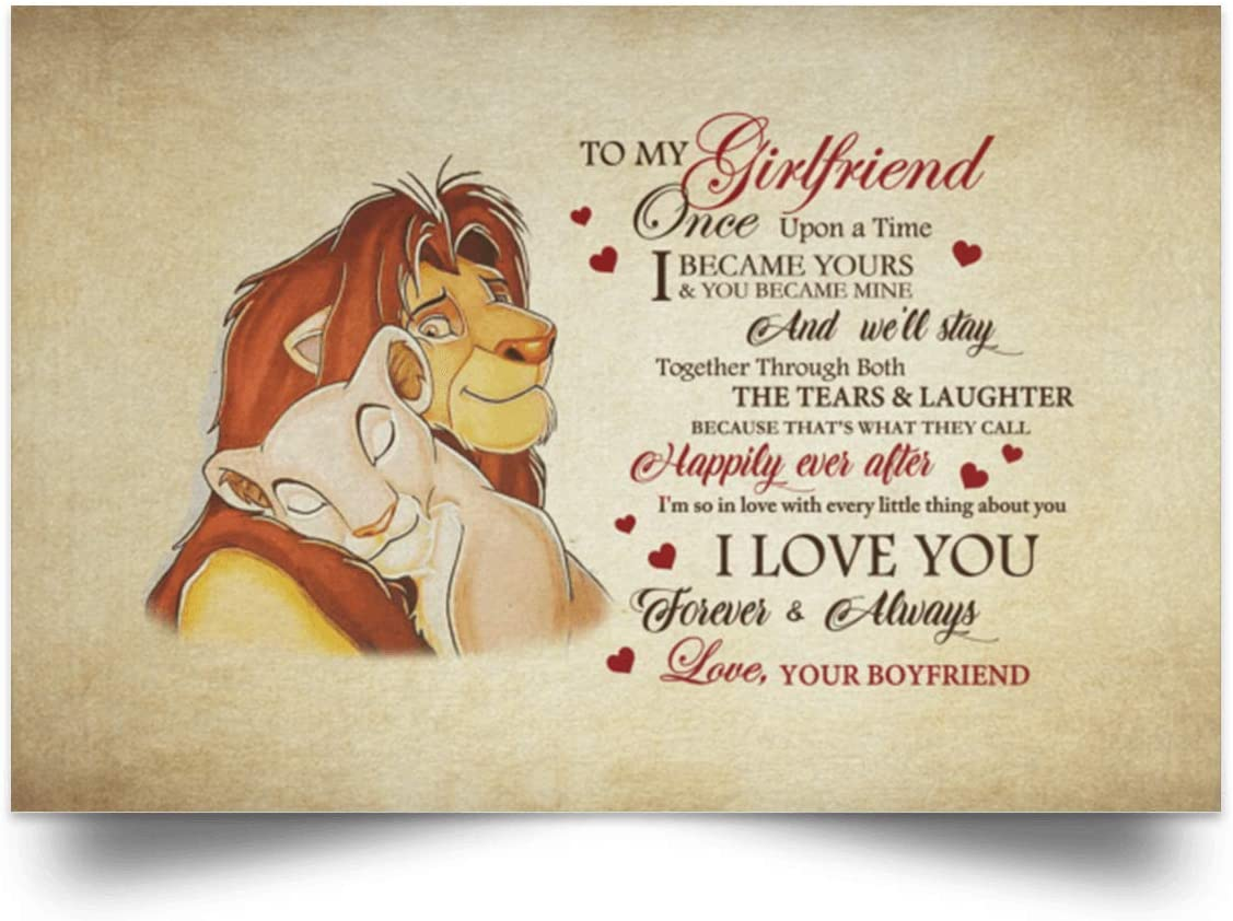 UP To My Wife You Are My Always My Happily Ever After Landscape Poster No Frame