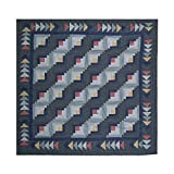 Patch Magic Sail Log Cabin Shower Curtain, 72-Inch by 72-Inch