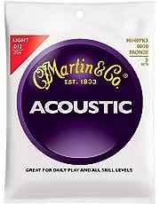 Martin M140 Light Acoustic Guitar Strings - 3 Pack