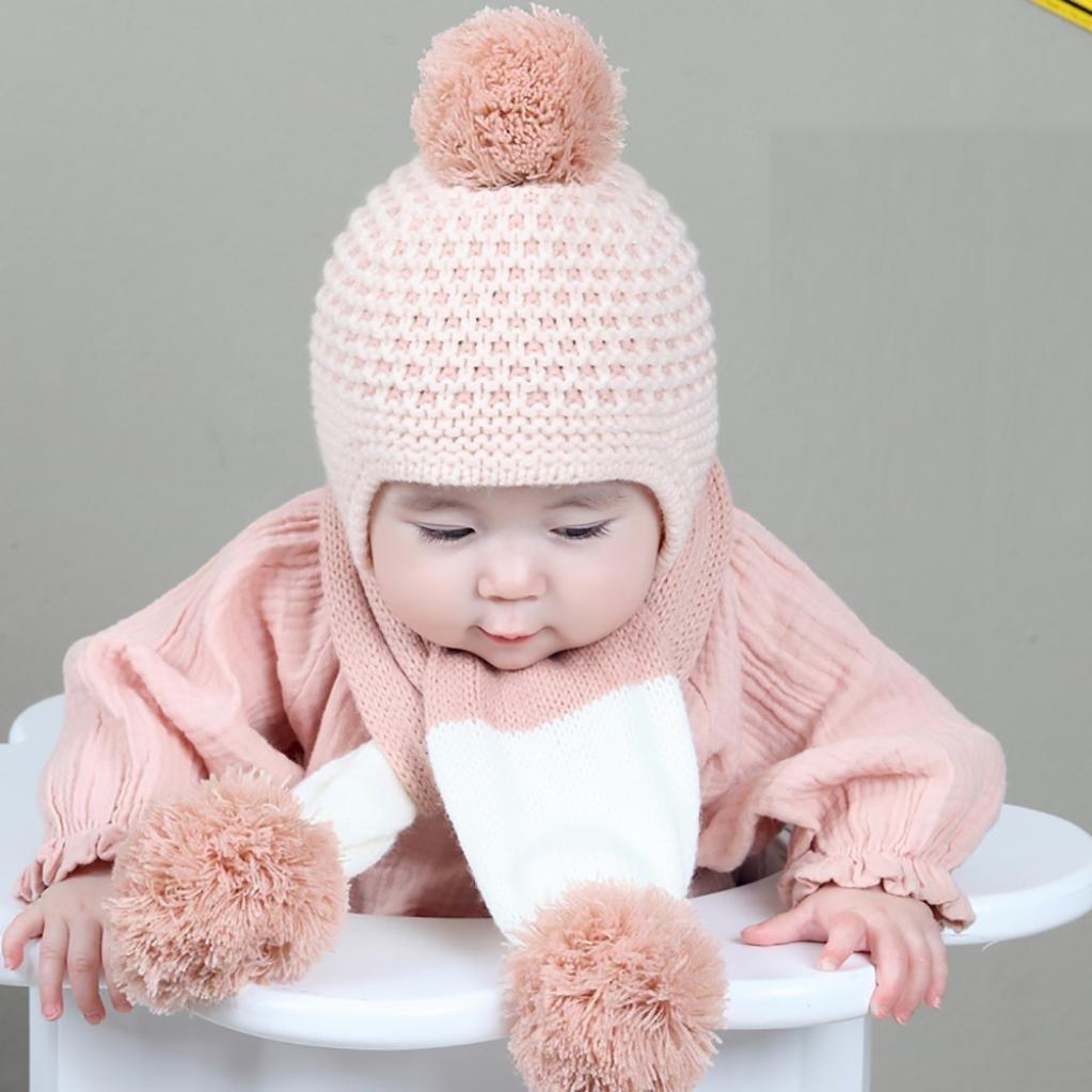 ZARU Pompon lindo bebé de invierno para niños muchachos de las niñas  calientan gorros de lana 4910b9b4755