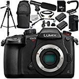 Panasonic Lumix DC-GH5S Mirrorless Digital Camera 12PC Accessory Bundle – Includes 64GB SD Memory Card + 2x Replacement Batteries + MORE - International Version (No Warranty)