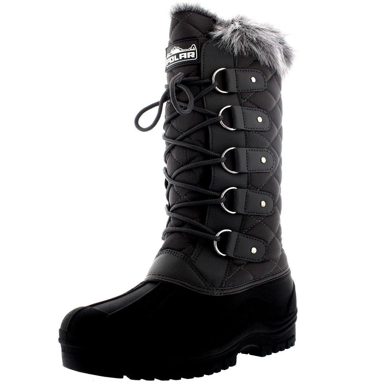 Womens Waterproof Tactical Mountain Walking Snow Knee Boots B01GMU45HA 11 B(M) US|Gray