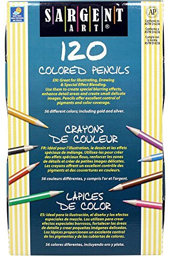 6 X Sargent Art 22-7252 120-Count Best Buy Assortment Colored Pencils