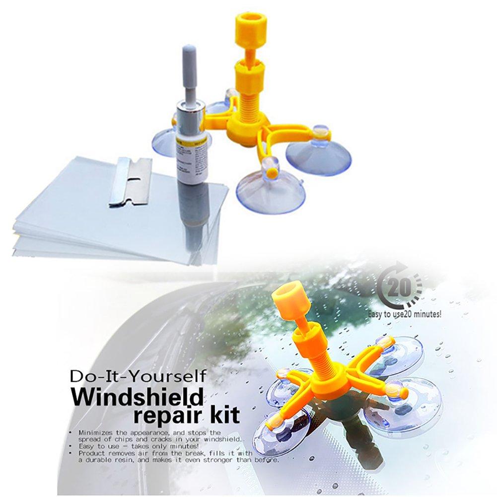 Pare-brise Outil de réparation Kits, Woopower DIY de voiture fenêtre de Kits de réparation de rayures en verre outils de réparation pare-brise Crack réparation Window écran Vernis Auto