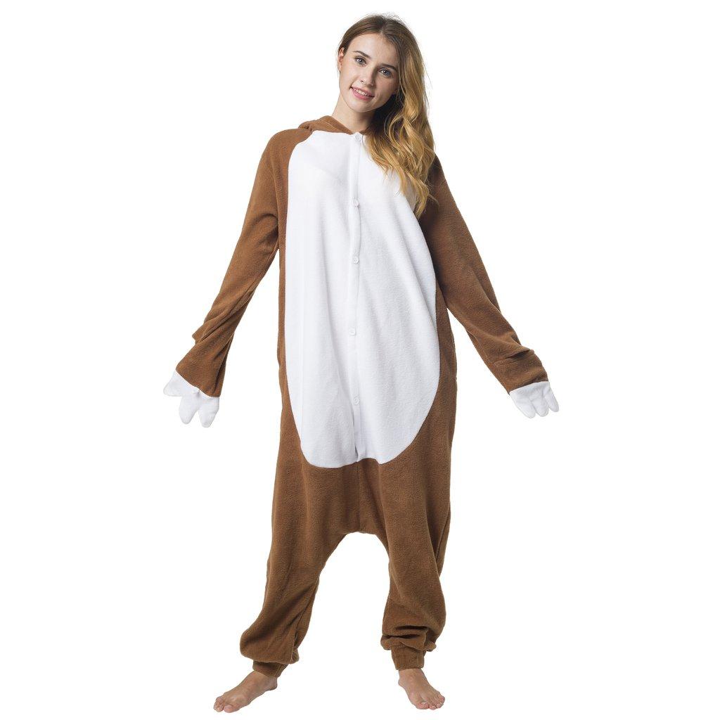 Katara 1744 - Kigurumi Pijamas Disfraz de Animal - Traje de Noche con Capucha - Adultos Unisexo - Perezoso, L: Amazon.es: Juguetes y juegos
