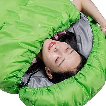Gaojuan Saco de dormir saco de dormir solo sobre un colchón Saco de dormir saco de