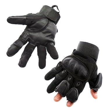 Amazon.com: mili-mit táctico Guante con 3 dedos retráctil ...