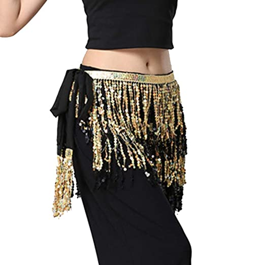 Holywin - Disfraz de Bailarina de Vientre para Mujer Dorado Talla ...