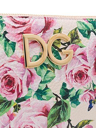 Dolce E Gabbana Damen BI0933AI931HAH41 Rosa Leder Schultertasche