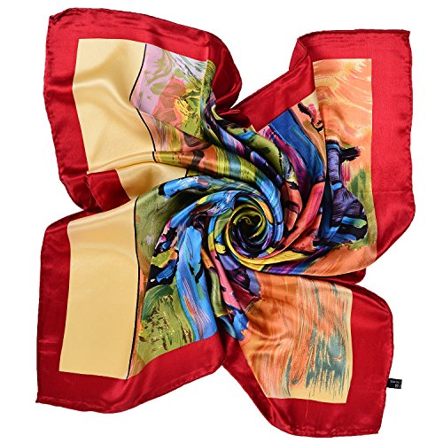 Salutto Women Square Scarf Silk Van Gogh Painted Scarves (22)