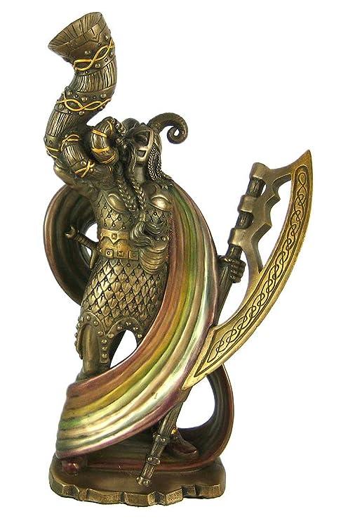 Norse God Heimdall Bronzed Finish Statue Pagan