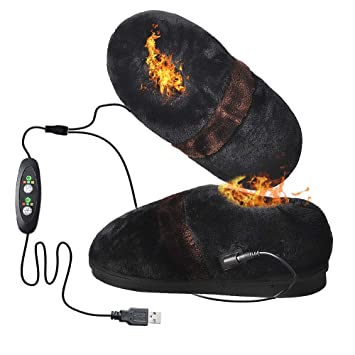083d015538b3 Image Unavailable. Image not available for. Color  Heated Slippers for Cold  Weather ...