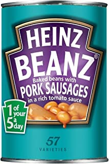 product image for Heinz Baked Beanz with Pork Sausages in Tomato Sauce (415g) - Pack of 6