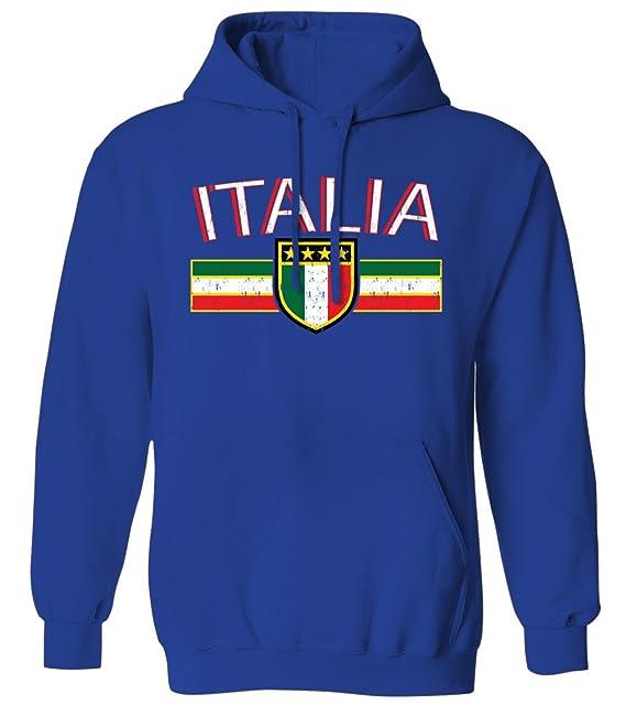 Swift Pigeon Apparel Bandera de Italia Envejecido Rayas - Cartel Italiano Italia Sudadera con Capucha para Hombre: Amazon.es: Libros
