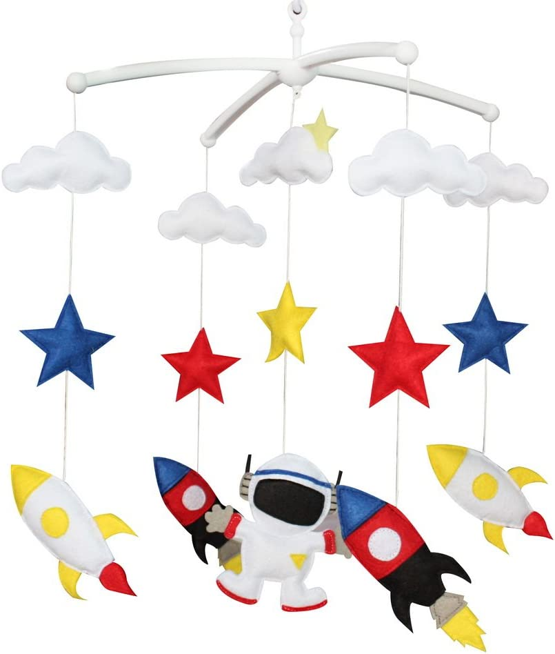 Musical Toy Crib Mobile Hanging Bell to Hold Babys Attention 01 Rocket Type