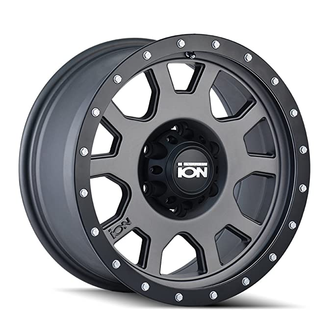 18 x 9. inches //5 x 139 mm, 18 mm Offset Ion 134 Matte Gunmetal//Black Beadlock Wheel with Painted Finish
