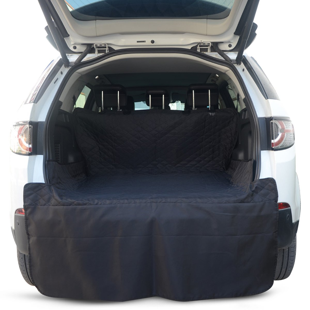 Black PETCUTE Car Boot Liner Predector Car Rear Back Seat Cover Pet Back Seat Cover Durable and Waterproof Universal for SUV Car Trunk Mat