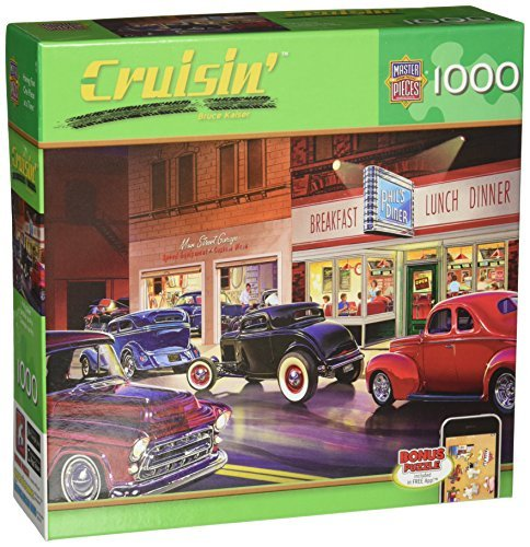 Masterpieces Phil's Diner Cruisin' Jigsaw Puzzle (1000-Piece) by MasterPieces