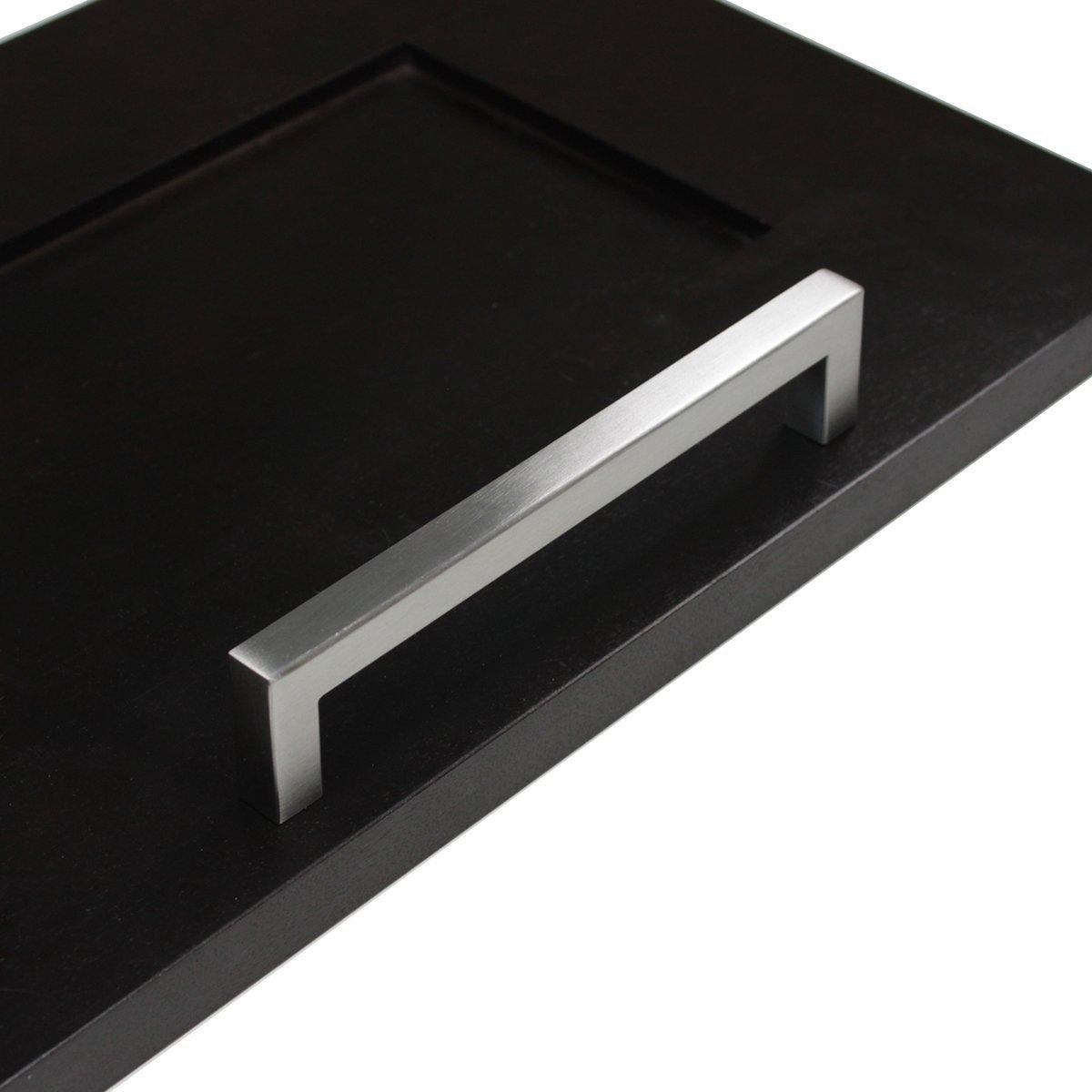 Gedotec acier inoxydable manche /à Stanga poign/ées pour portes poign/ées cuisine poign/ées brisevent dangle mat profil 14/x 14/mm Hauteur 35/mm bA 96/ /736/mm qualit/é du label pour s/&eacu