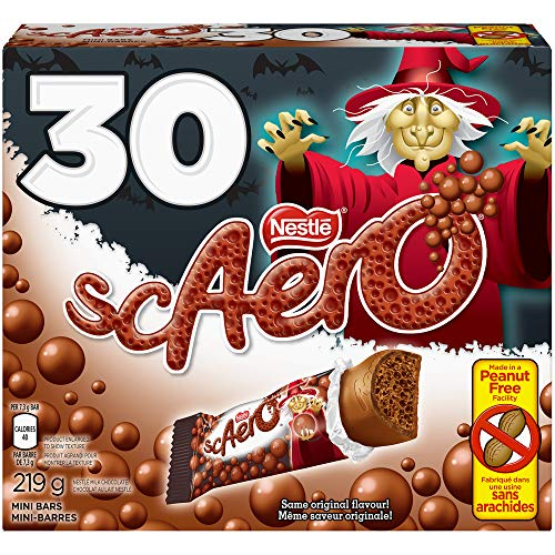 Nestle Chocolate Bars Halloween (Nestle scAero Aero Halloween Version 30x7.3g Snack Size Bars - Imported From)