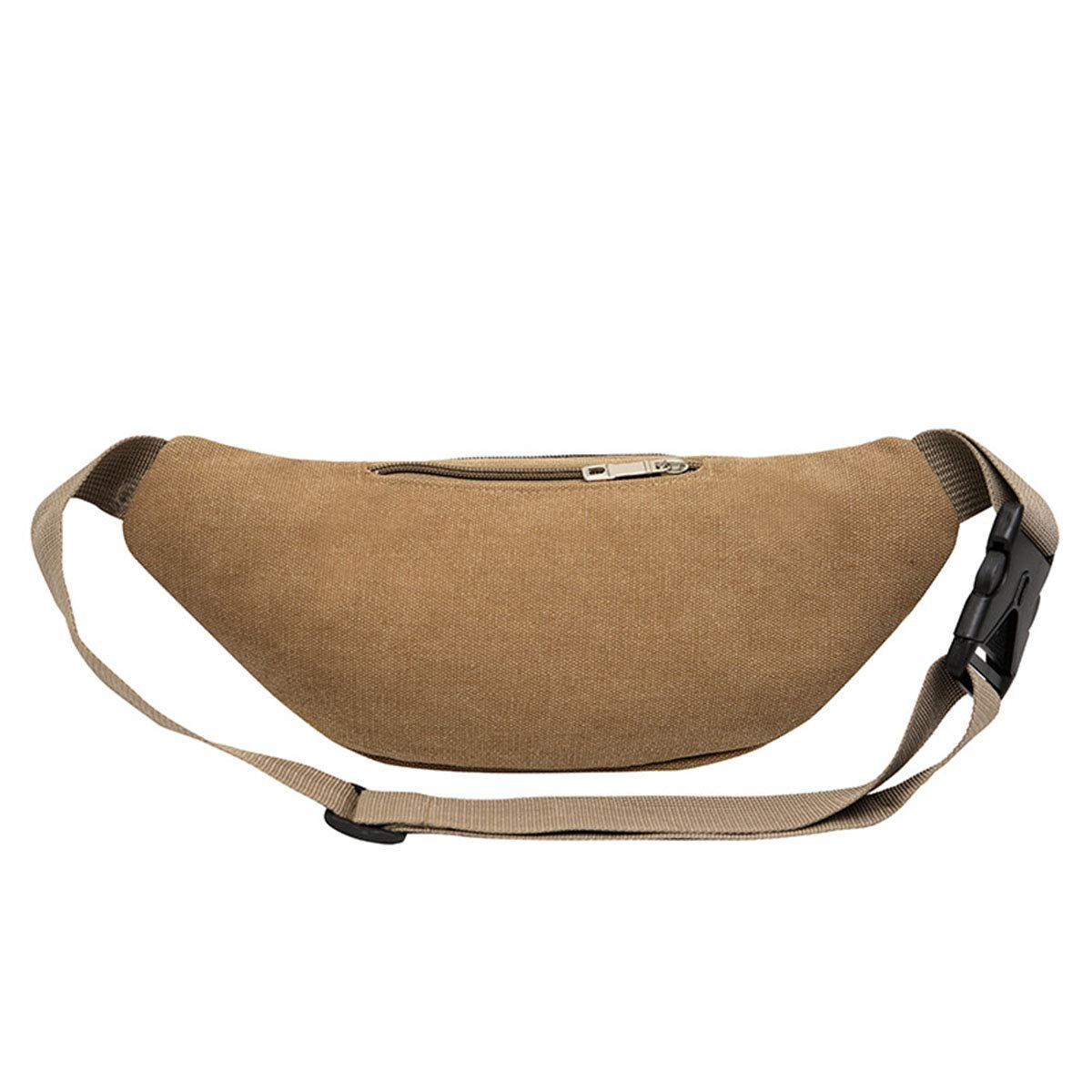 Bum Bag Large Capacity Travel Waist Pack for Women Men,Durable Waist Pouch Belt Bag for Walking Holidays Hiking Cycling Running Outdoor Sport,Khaki,211410CM