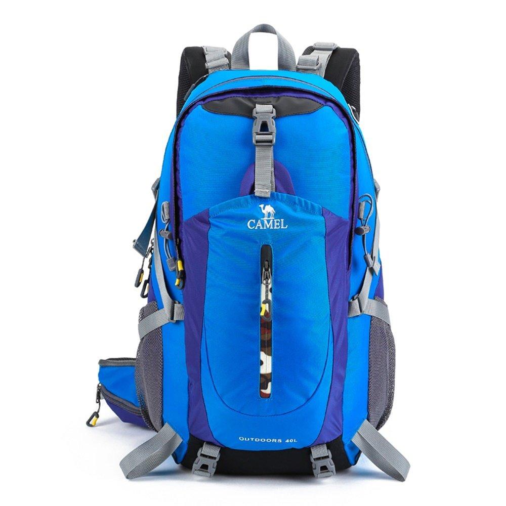 ALUP- 防水ハイキングバックパック、屋外カジュアルリュックサックスポーツ旅行トレッキングランニングレディースメンズ40L (色 : Colored blue)  Colored blue B07N384YMG