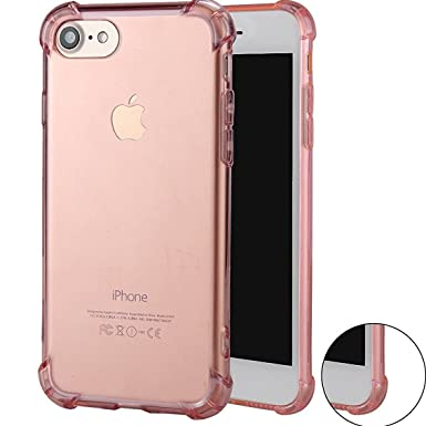 """Review iPhone 7 Case,iPhone 8 Case,ibarbe Premium Slim Fit Crystal clear Perfect slim Fit Shockproof Protective Impact Resistant Anti-scratches Heavy Duty Protection TPU Bumper Cover for iPhone 7/8 4.7"""""""