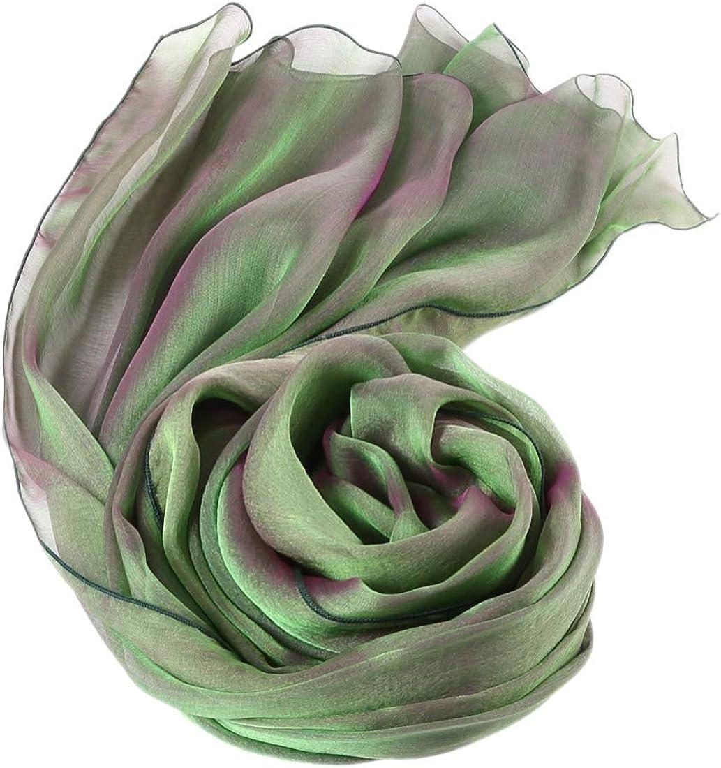 Stola Pura Seta Foulard Sfumature Bicolori Seta Donna Scialle Elegante Abito da Sera XL XXL Scelta Colori prettystern
