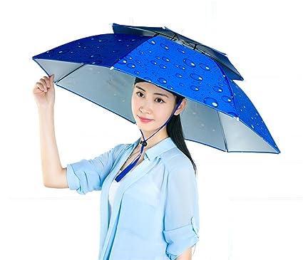 f502619f1 Amazon.com : Fishing Umbrella Hat Umbrella Hat Double Sunscreen ...