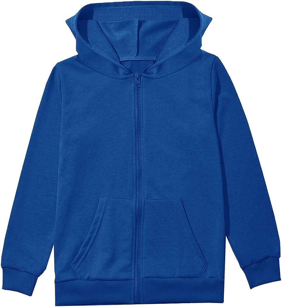 GSVIBK Little Girls Zip-Up Hoodie Sweatshirts Kids Cooton Zip Up Hoodie Girls Soft Zip Hooded Sweatshirt