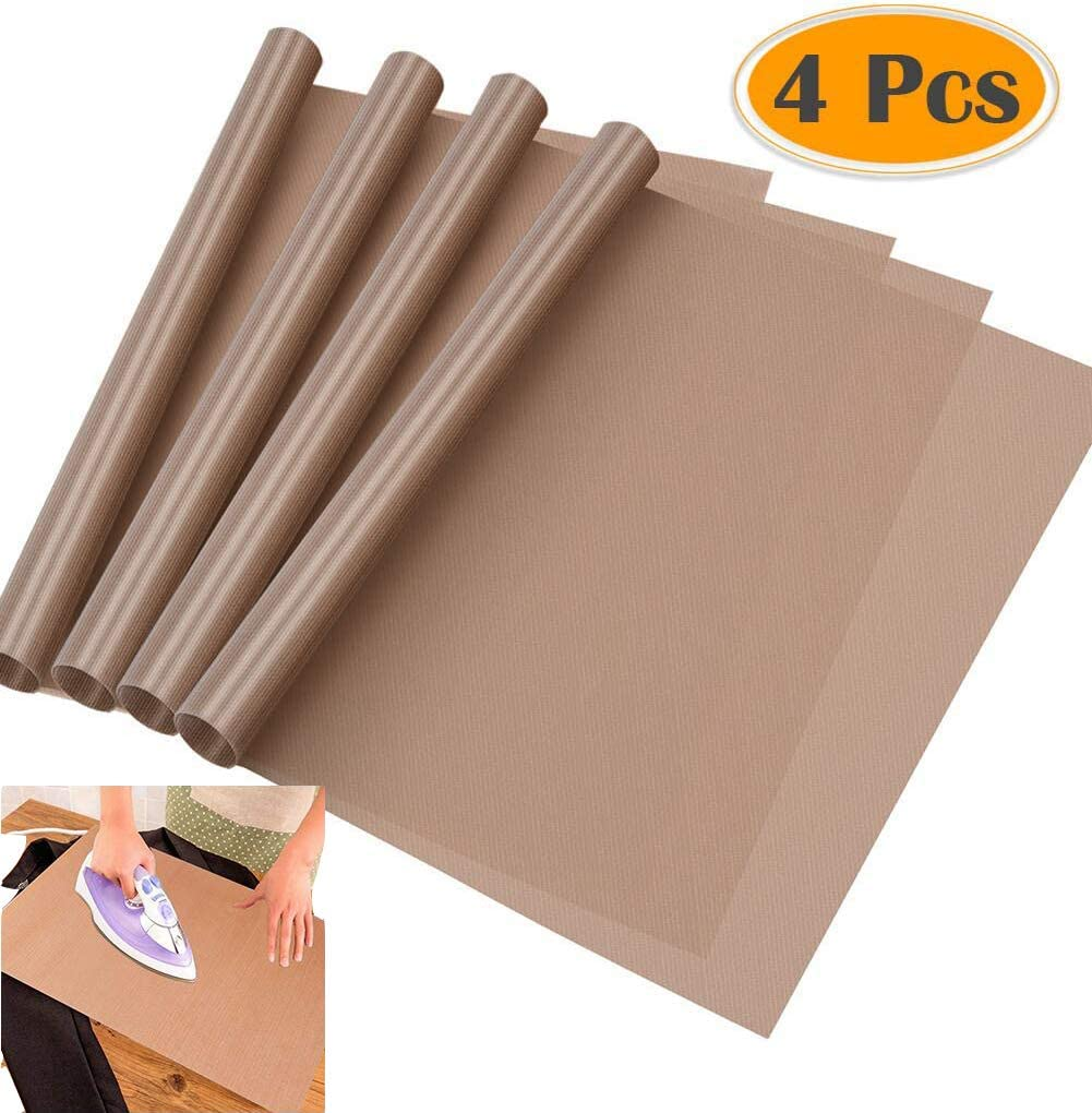 2416inch ) 4 Pack Nonstick Oven Liners Heat Transfer Paper Reusable Heat Resistant Craft Mat Heat Press Transfer Sheets