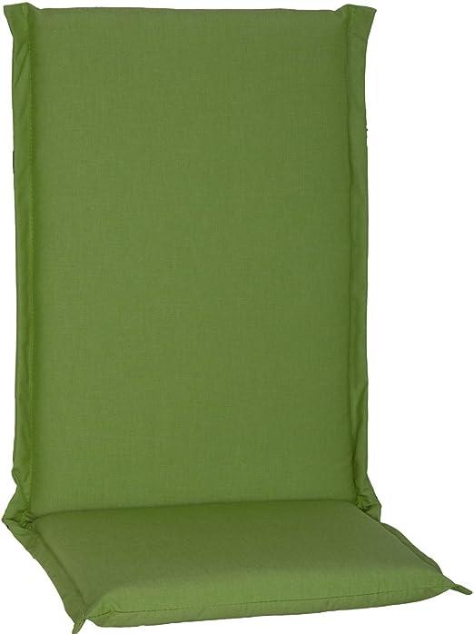 Beo HL RV Du51 Ascot - Cojín para Silla de jardín (Respaldo Alto, Cierre de Cremallera), Verde, ca. 120 cm x Breite ca. 52 cm x Dicke ca. 8 cm: Amazon.es: Jardín