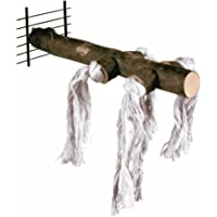 Trixie Wooden Perch with Cotton Rope, 25 cm Length