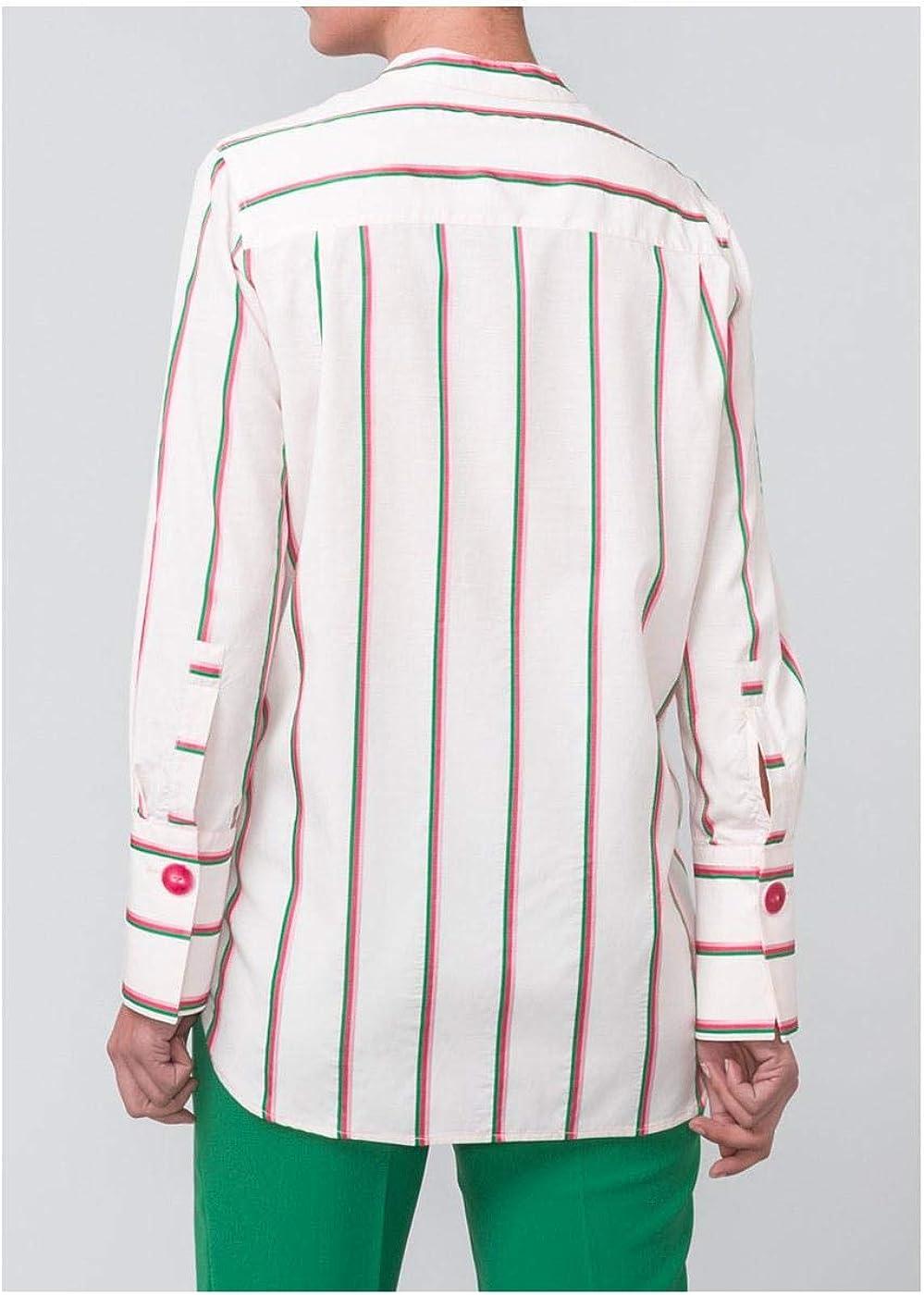 Camisa Mirto Fluida De Rayas para Mujer 48: Amazon.es: Zapatos y complementos