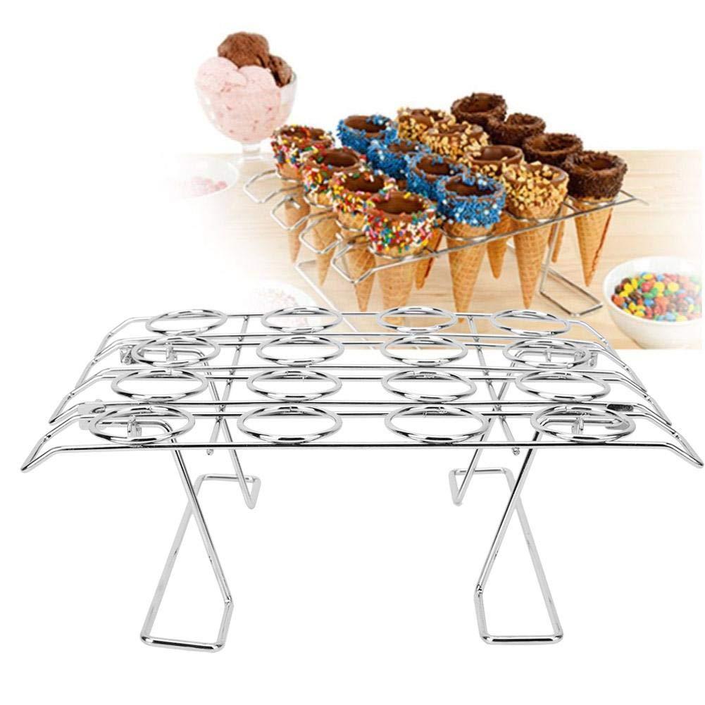 16 Slots Folding Ice Cream Display Cooling Rack Holder for Baking Cake Cupcake by Wifehelper (Image #3)