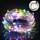 String Lights,Bienna 100 LED 33ft/10M USB Powered Silver Wire Starry Fairy Waterproof Lighting for Outdoor Bedroom Indoor Patio Home House Cafe Christmas Xmas Tree Holiday Wedding Party-Multi Color