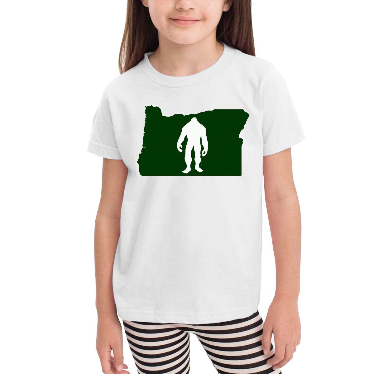 Baby Girls Little Boys Oregon Bigfoot Soft Short Sleeve Tee Tops Size 2-6