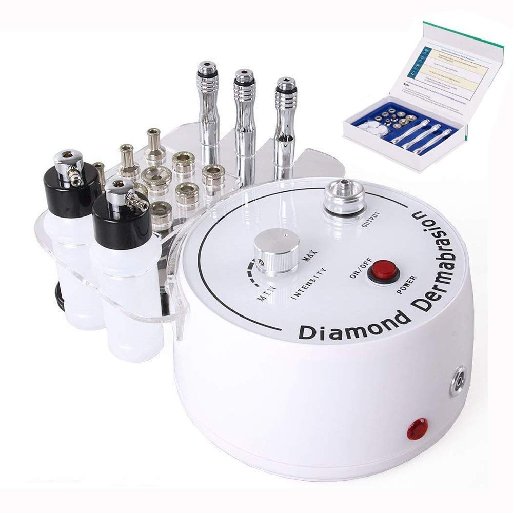 Titoe 3 in 1 Diamond Microdermabrasion Dermabrasion Machine Facial Care Salon Equipment for Skin Peeling Rejuvenation Lifting Tightening Beauty Device (Suction Power: 0-55cmHg) by Kelife