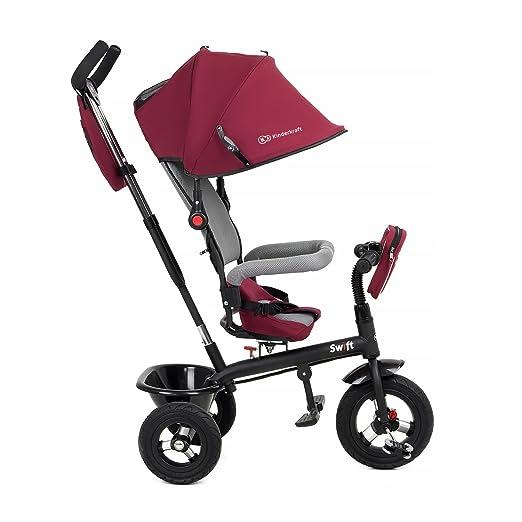 kk Kinderkraft Niño Fuerza Swift 6 in1 Triciclo para niños con Accesorios en 2 Colores (Rojo)