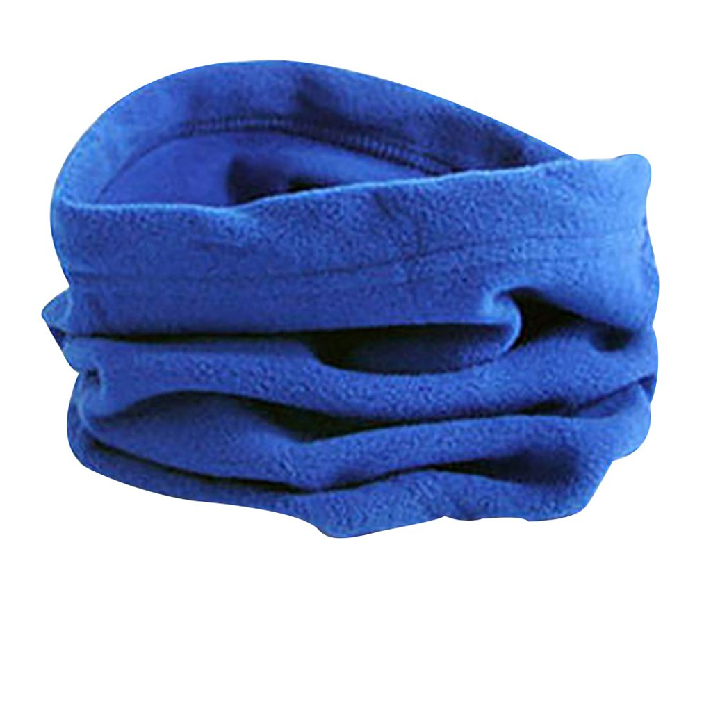 Unisex Multiuse Winter Sports Thermal Fleece Scarf Snood Neck Warmer Face Mask Beanie Hat