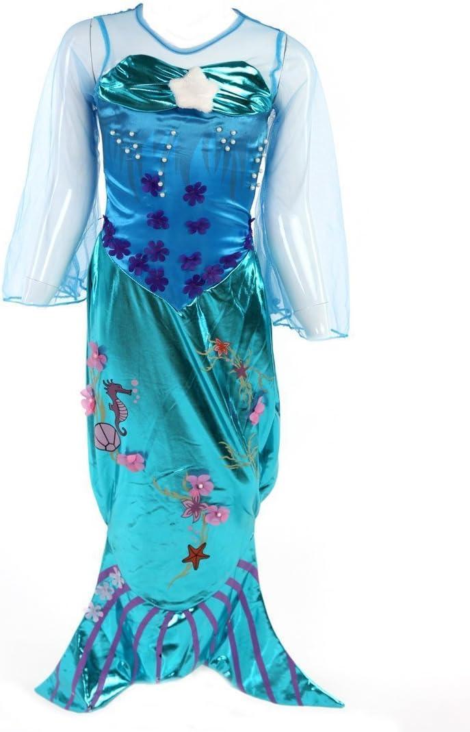 Katara- Disfraz de Ariel para niñas, Color turquesa, 4-5 años ...