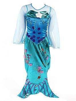 Katara- Disfraz de Ariel para niñas, Color turquesa, 7-8 años ...