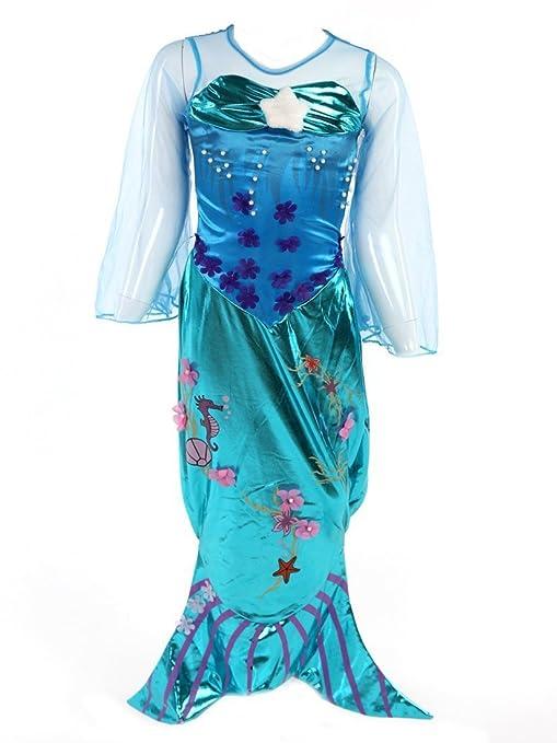 Katara Disfraz de Ariel para niñas Color turquesa 6-7 años (Etiqueta 130)