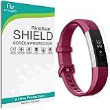 [6-PACK] Fitbit Alta HR Screen Protector Full Coverage [Military-Grade] RinoGear Premium HD Invisible Clear Shield Anti-Bubble