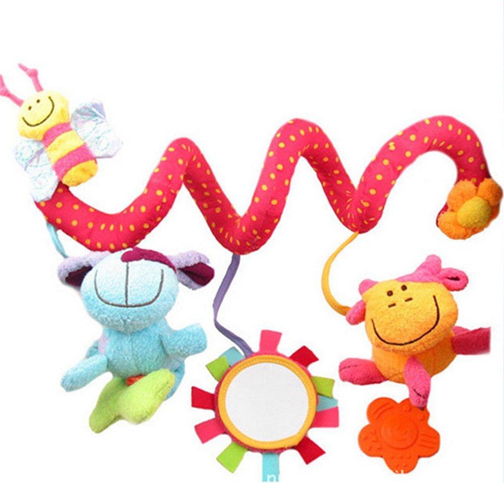 Beauty DIY Mart Jouet Spiral Suspendu Autour du Lit de la Poussette Les bébés, Jouet en Peluche Qui l'image Mignon Les Petits Enfants - Abeille