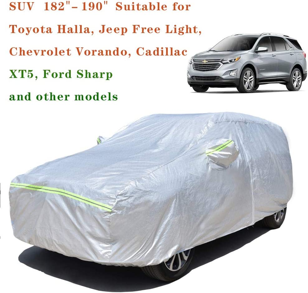 Sedan, fit Length Automobile Cover Sunproof Rainproof Windproof Scratch Resistant Reflective Strips Cotton Inside AOYMEI Full Car Cover Waterproof All Weather 191/'/'-196/'/'