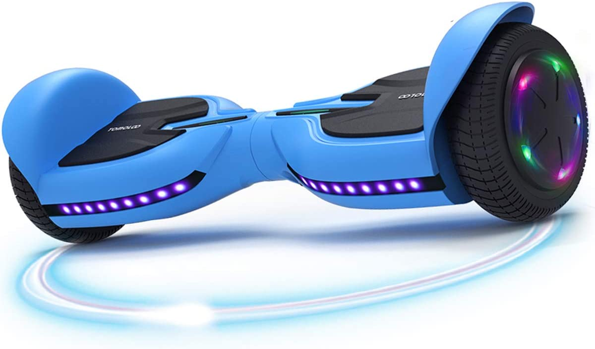 TOMOLOO Music-Rhythmed Hoverboard 6.5 inch Electric Scooter- UL2272 Certificated with Bluetooth Speaker LED Lights Kids and Adult Two-Wheel Self-Balancing Scooter