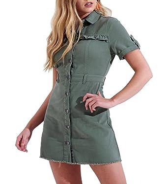c77489c2976 SS7 New Distressed Denim Shirt Dress Sizes 6-14 Indigo Blue: Amazon.co.uk:  Clothing
