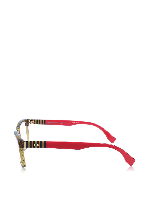 c6dd5ef4b6 Amazon.com  Fendi Designer Eyeglasses FF0056-MQZ in Olive 53mm DEMO LENS   Clothing