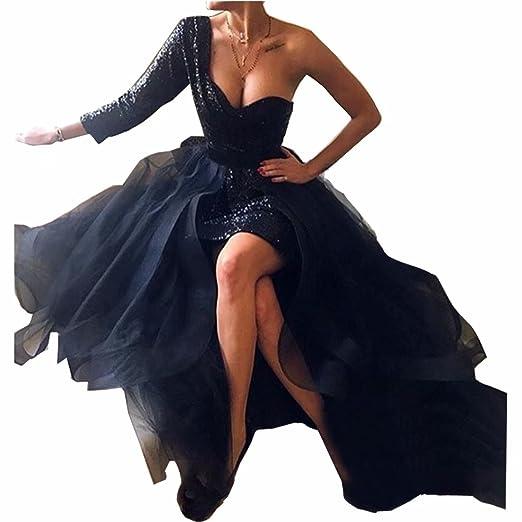 1b43ef4e37132 ... Dress 2015 Vestidos De DingDingMail Black Sequined Short Prom Dresses  with Detachable Skirt 2019 Long Sleeves Plus Size Evening Dresses ...